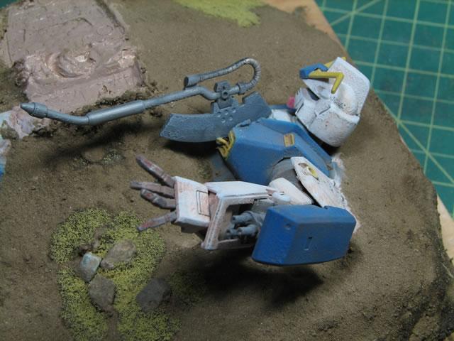 Diorama Building Burying A Gundam Gamera Baenres Mindless Ramblings